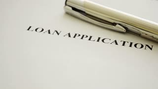 Loan application, print header on paper.