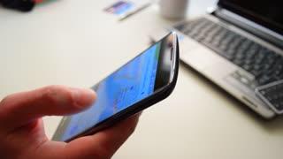Using Smartphone, office