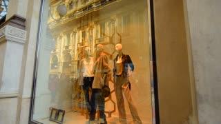 Milan, Italy, fashion clothes shop