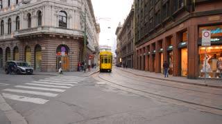 Milan, Italy. Old tram.