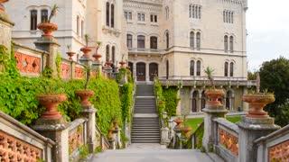Miramare castle in the Trieste, Italy.