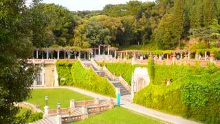 Green garden of Miramare palace, Trieste