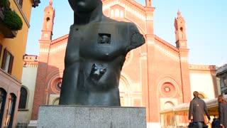 Modern art sculpture, Milan, Italy