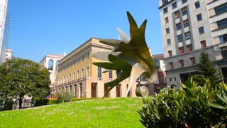 Milan, Italy. Modern sculpture