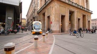 Modern tram, Milan, Italy