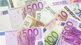Money background, euro bills