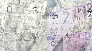 Money background, euro dollar