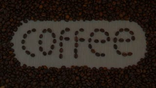 Morning, sunrise, coffee beans background