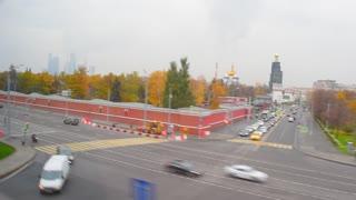 Moscow street, car traffic
