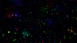 Abstract colorful particles motion video background
