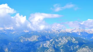 Mountains landscape, clouds motion video background