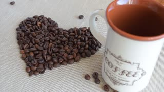 Mug of coffee. Pour a mug of coffee