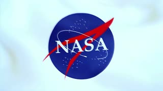 NASA logo, waving flag