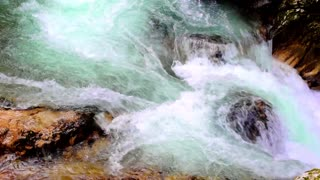 Nature video background, water