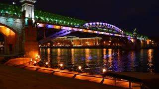 Night Moscow, bridge.