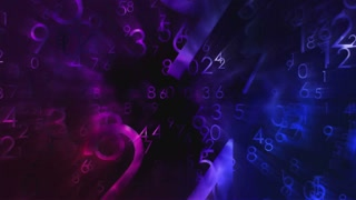 Numbers motion animated background