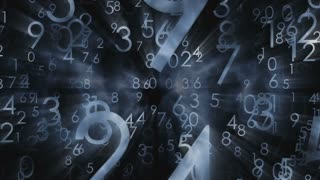 Numbers motion seamless animated backgrounds