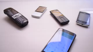 Old and modern mobile phones