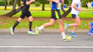 Jogging, runners outdoor