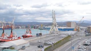 Sea port panoramic view