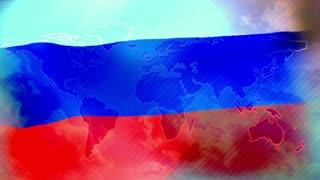 Russia symbol, russian flag