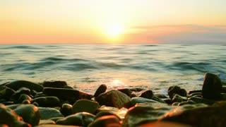 Sea sunset, surf video background