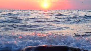 Sea wave closeup, sea background.