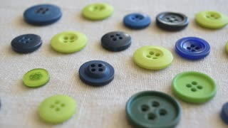 Sewing buttons, handmade concept