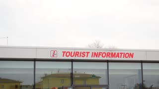 Sign tourist information. Tourist information center in Maranello, Italy