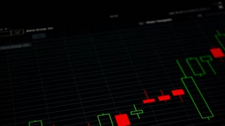 Stock exchange concept, chart close up