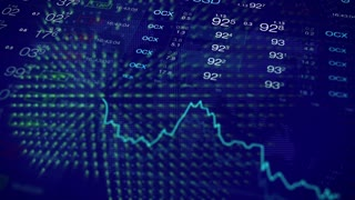 Stock market finance video background