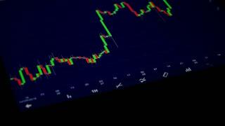 Stock exchange index chart
