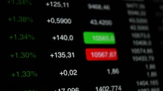Stock market up data