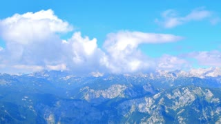 Timelapse, clouds, mountains