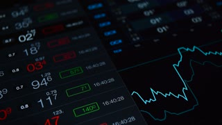 Stock market, financial video background