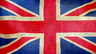 UK waving flag, grunge
