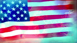US, United States flag, animated video background