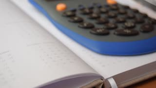 Calculation. Calculator and diary.