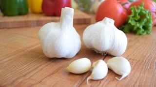 Vegetables, cloves of garlic