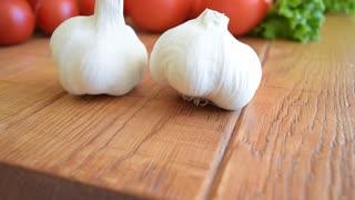 Vegetables, head of garlic