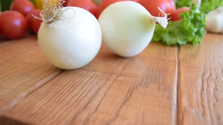 Vegetables, onion closeup