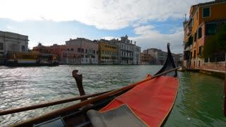 VENICE, ITALY: Venetian gondola