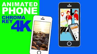 Animated phone green screen