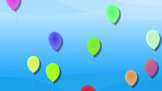 Balloons, child loop background