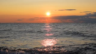Beautiful seascape, sea beach sunset