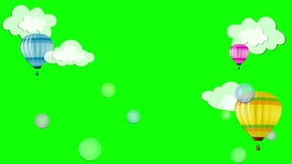 Children, Baby cartoon background. Green screen.