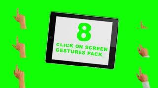 Gesture finger touch green screen