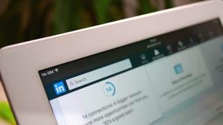 LinkedIn social network profile