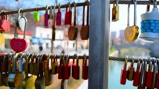 Love locks, bridge of lovers