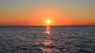 Sea sunset outdoor background
